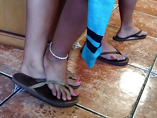 Sexy Candid Asian Feet and..