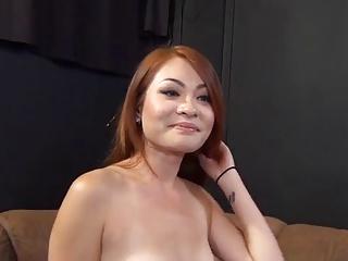 Redhead Asian Babe Has..