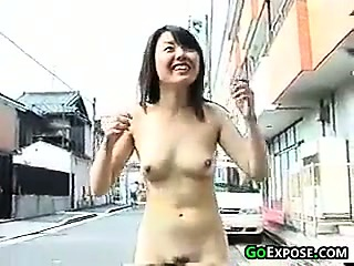 Naked Asian Girl Running..