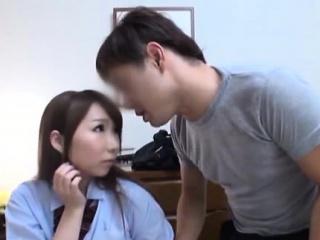 Gracious oriental schoolgirl..