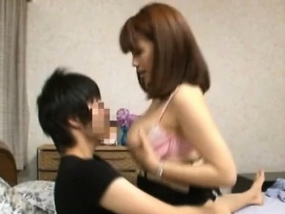 Japanese milf with large..
