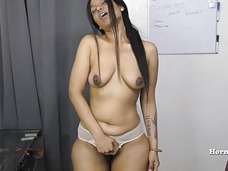 Indian Aunty seducing her..