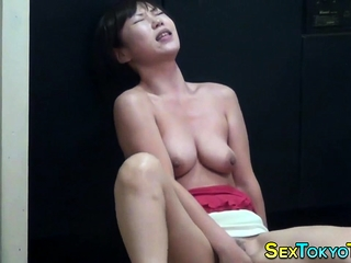 Horny asian slut fretting