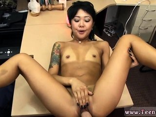 Tiny brunette big tits and..