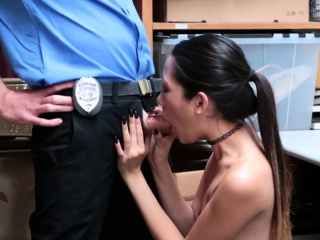 Beauteous police threesome..