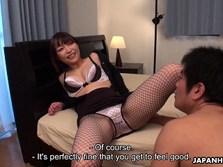 Japanese Yui Ayana is gently..