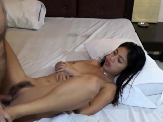 Horny Asian Teen sucks..
