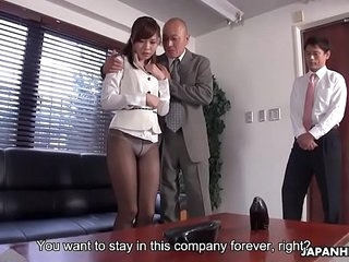 Japanese office lady, Aihara..