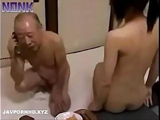 Japanese grandfather fucks..