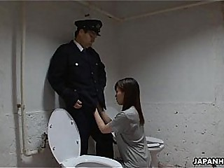 Asian prisoner sucking off..