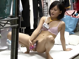 Horny Japanese old bag in..