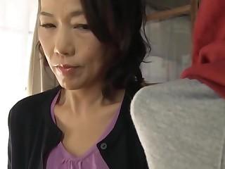 Japanese mom making son..