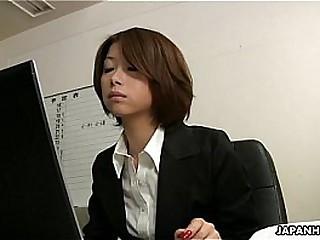 Asian office lady Tsubaki..