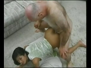 OLD MAN AND TEEN grandpa and..