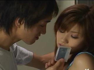 Soft Japanese teen dildoing..